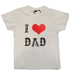 Camiseta I LOVE DAD TATTO WC