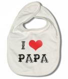 Babero I LOVE PAPA WW.
