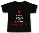 Camiseta KEEP CALM AND LISTEN HEAVY METAL BMC