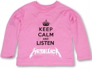 Camiseta KEEP CALM AND LISTEN METALLICA CHML