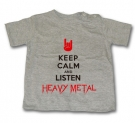 Camiseta KEEP CALM AND LISTEN HEAVY METAL GMC