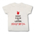 Camiseta KEEP CALM AND LISTEN HEAVY METAL WMC