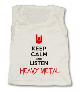 Camiseta KEEP CALM AND LISTEN HEAVY TW