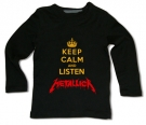 Camiseta KEEP CALM AND LISTEN HEAVY METAL BML