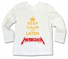 Camiseta KEEP CALM AND LISTEN METALLICA WML