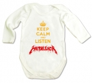 Body KEEP CALM AND LISTEN METALLICA WML