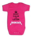 Body bebe KEEP CALM AND LISTEN METALLICA FMC