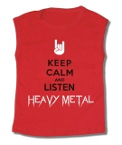 Camiseta KEEP CALM AND LISTEN HEAVY METAL TR