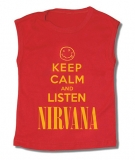 Camiseta KEEP CALM AND LISTEN NIRVANA TR