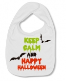 Babero KEEP CALM AND HAPPY HALLOWEEN W.