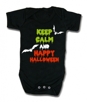 Body bebé KEEP CALM AND HAPPY HALLOWEEN BMC