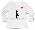 Camiseta BANKSY THERE IS ALWAYS HOPE WML