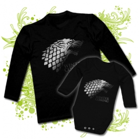 CAMISETA PAPA WINTER IS COMING + BODY WINTER IS COMING BL