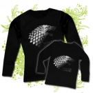 CAMISETA MAMA WINTER IS COMING + CAMISETA NIÑOS WINTER IS COMING BL