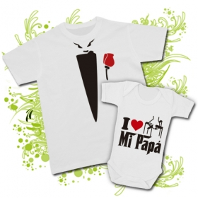 CAMISETA PAPA EL PADRINO + BODY I LOVE MI PAPÁ WC