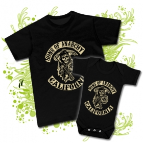 CAMISETA PAPA SONS OF THE ANARCHY CALIFORNIA + BODY SONS OF THE ANARCHY CALIFORNIA BC