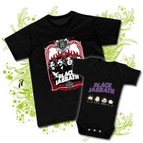 CAMISETA PAPA BLACK SABBATH + BODY SOUTH PARK BLACK SABBATH BC