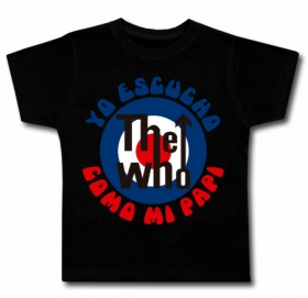 Camiseta YO ESCUCHO THE WHO COMO MI PAPI NEW BMC
