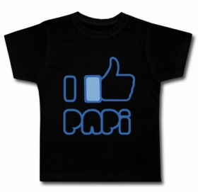 Camiseta FACEBOOK I LIKE MI PAPI BMC