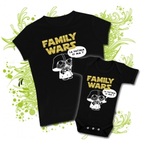 CAMISETA MAMA FAMILY WARS II + BODY FAMILY WARS BBMC