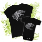 CAMISETA MAMA WINTER IS COMING I + BODY WINTER IS COMING BBMC