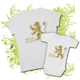 CAMISETA MAMA HEAR ME ROAR II + BODY HEAR ME ROAR BWMC