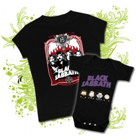 CAMISETA MAMA BLACK SABBATH I + BODY SOUTH PARK BLACK SABBATH BBMC