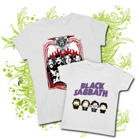 CAMISETA MAMA BLACK SABBATH IV + CAMISETA SOUTH PARK BLACK SABBATH WMC