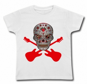 Camiseta CALAVERA MEXICANA ROCK GUITAR WMC