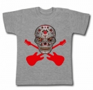 Camiseta CALAVERA MEXICANA ROCK GUITAR GMC