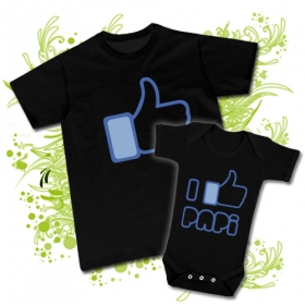 CAMISETA PAPA FACEBOOK I LIKE + BODY FACEBOOK I LIKE PAPI BC