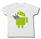 Camiseta ANDROID EATING AN APPLE WMC