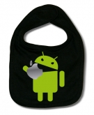 Babero ANDROID EATING AN APPLE B.