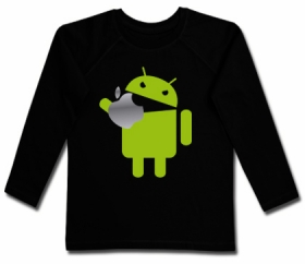 Camiseta ANDROID EATING AN APPLE BML