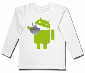 Camiseta ANDROID EATING AN APPLE WML