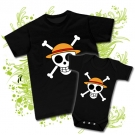 CAMISETA PAPA ONE PIECE + BODY ONE PIECE EXPLORADOR BBMC