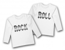 Camisetas gemelos ROCK & ROLL TWINS WHITE WL