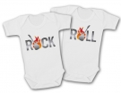 Bodys gemelos ROCK & ROLL TWINS GUITARRA WC