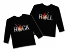 Camisetas ROCK & ROLL TWINS GUITARRA BL