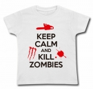 Camiseta KEEP CALM AND KILL ZOMBIES WMC