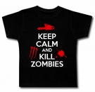 Camiseta KEEP CALM AND KILL ZOMBIES BMC