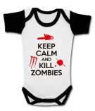 Body bebé KEEP CALM AND KILL ZOMBIES WWMC