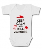 Body bebé KEEP CALM AND KILL ZOMBIES WMC