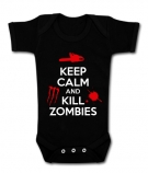 Body bebé KEEP CALM AND KILL ZOMBIES BMC