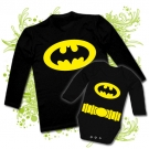CAMISETA PAPA BATMAN + BODY BEBE BATMAN