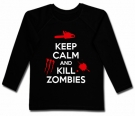 Camiseta KEEP CALM AND KILL ZOMBIES BML