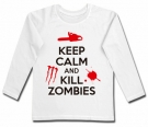 Camiseta KEEP CALM AND KILL ZOMBIES WML