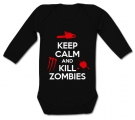 Body bebé KEEP CALM AND KILL ZOMBIES BML