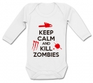 Body bebé KEEP CALM AND KILL ZOMBIES WML