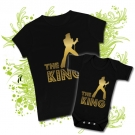 Camiseta MAMA ELVIS THE KING GOLD + Body BEBE ELVIS THE KING BC